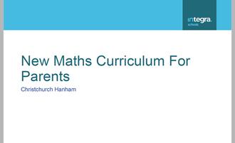 Maths Workshop for Parents